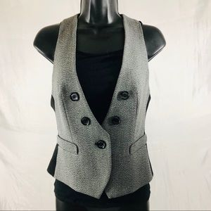 Express Women's Double Breasted Vest Grey Size 2